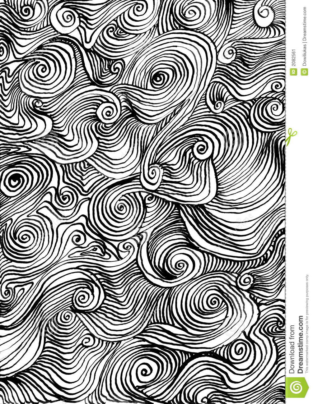 Decorative Ink Background Stock Illustration Illustration