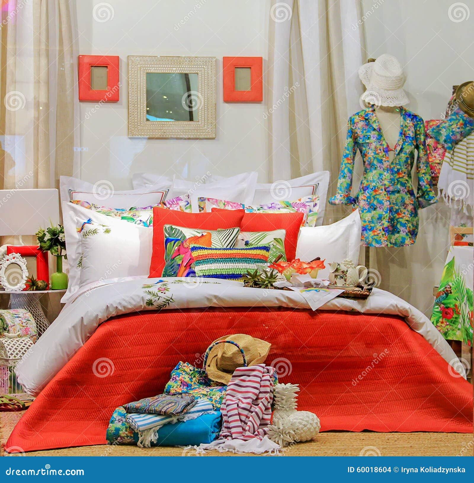 decorative interior bedroom shop window bright