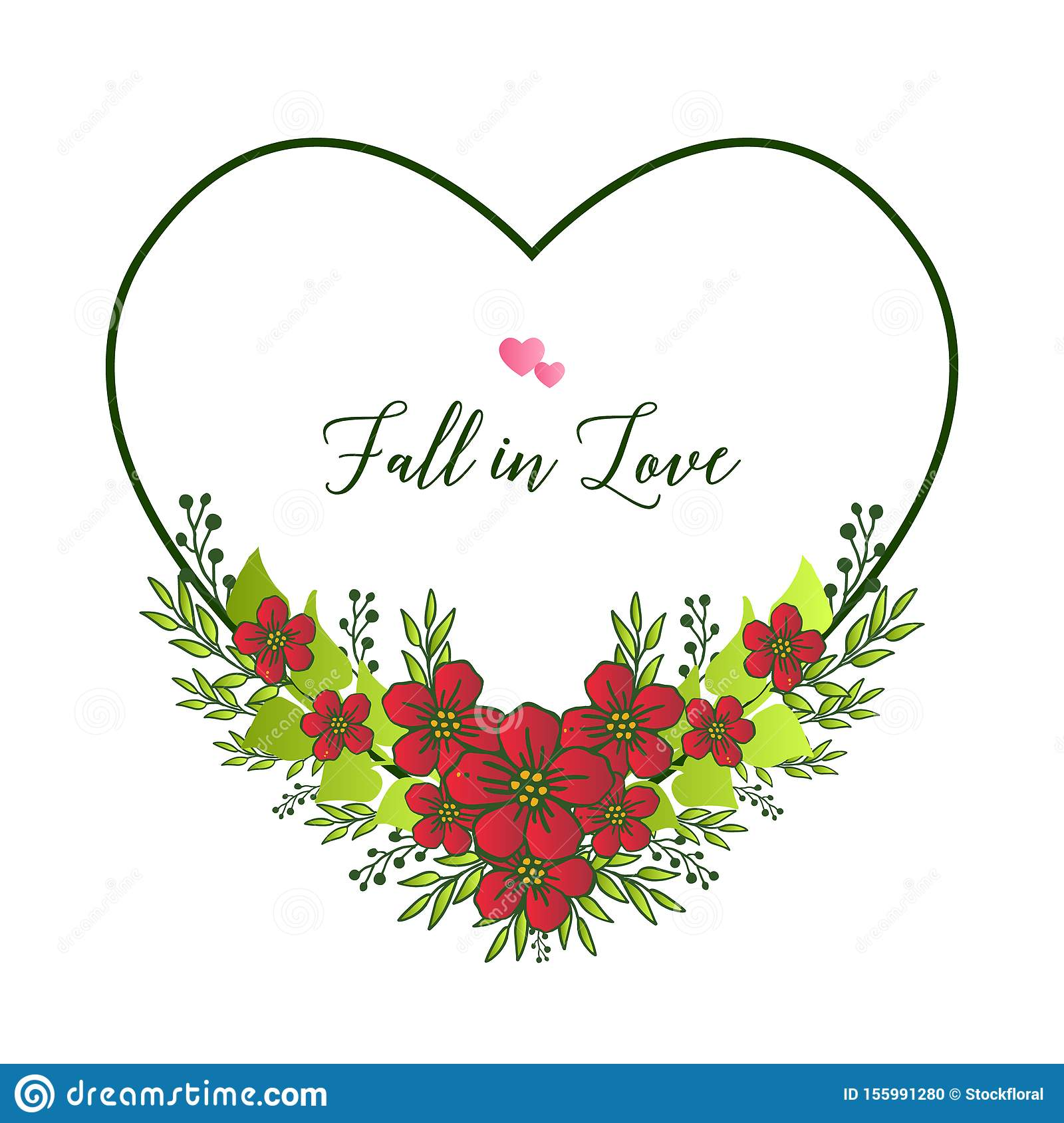 decorative of invitation card fall in love with wallpaper