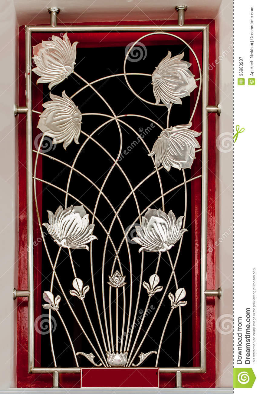 Decorative Iron Flower Bar Royalty Free Stock Photography ...