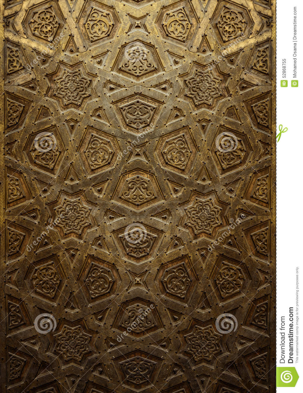 Decorative Islamic Wood Art Door Stock Photo Image 52868755