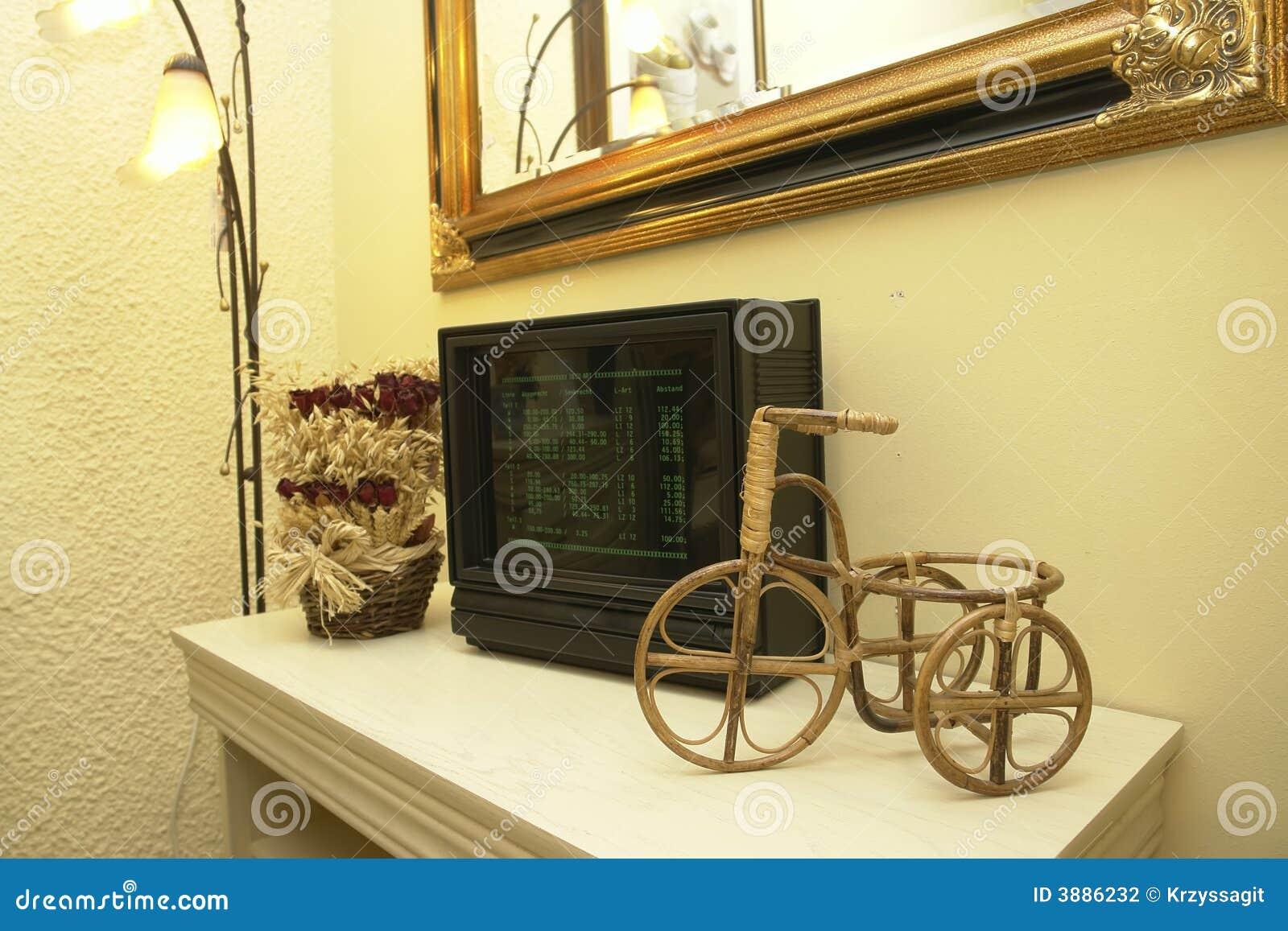 Decorative items on shelf stock photo. Image of ornaments - 3886232