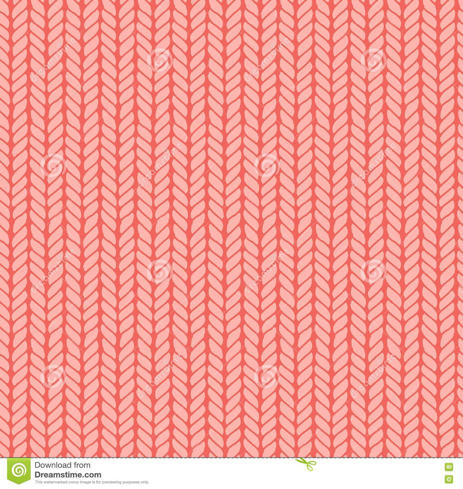 Decorative Knitting Braids Seamless Pattern. Stock Vector ...