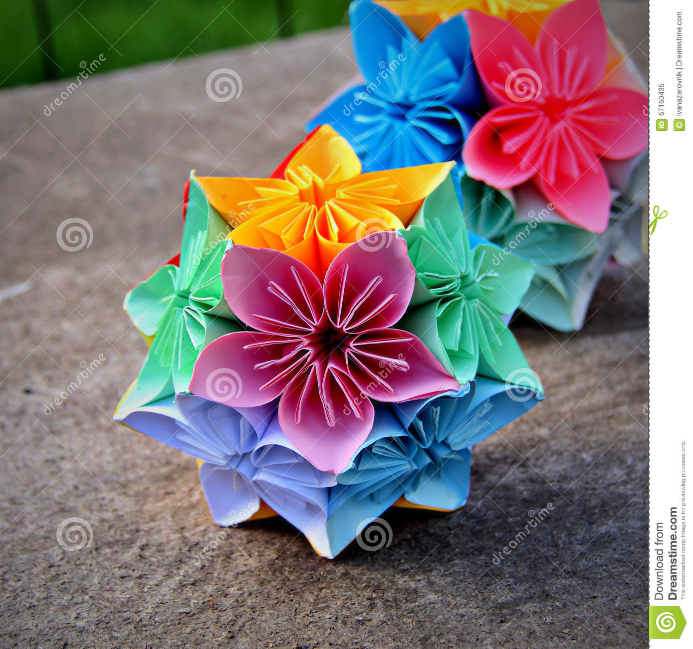 Decorative Kusudama Flower Balls Stock Image Image Of Home