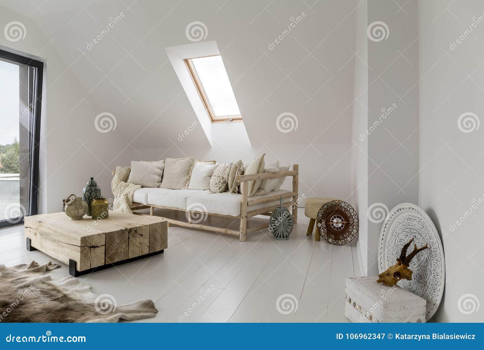 Rustic Living Room With Lantern Stock Image Image Of Lantern Living 106962347
