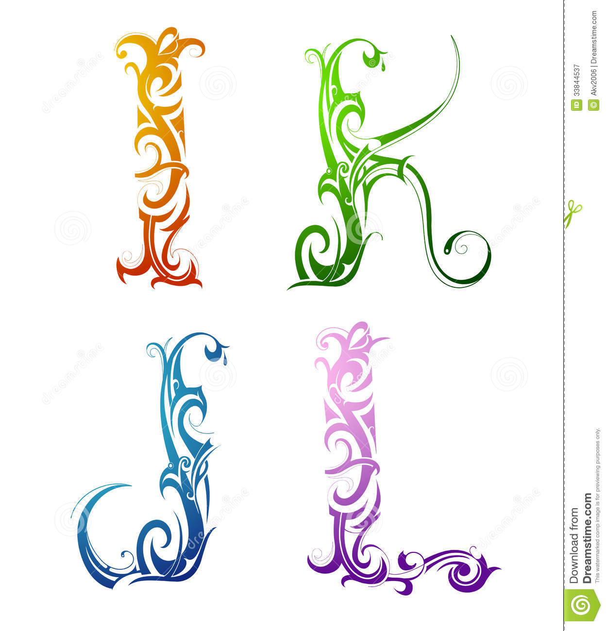 Decorative Letter Font Type Royalty Free Stock Photography