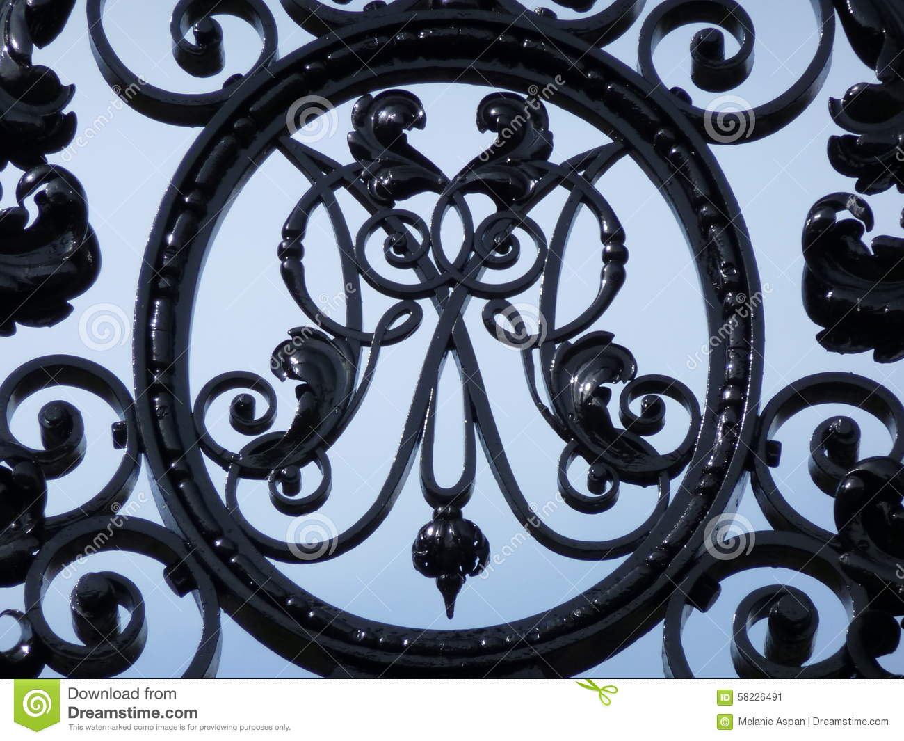 decorative letter m in wrought iron stock image image of circle