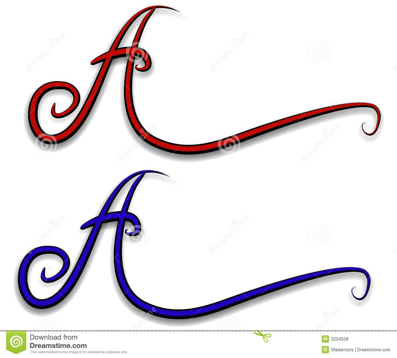 Decorative Letter A Web Logo Royalty Free Stock s Image