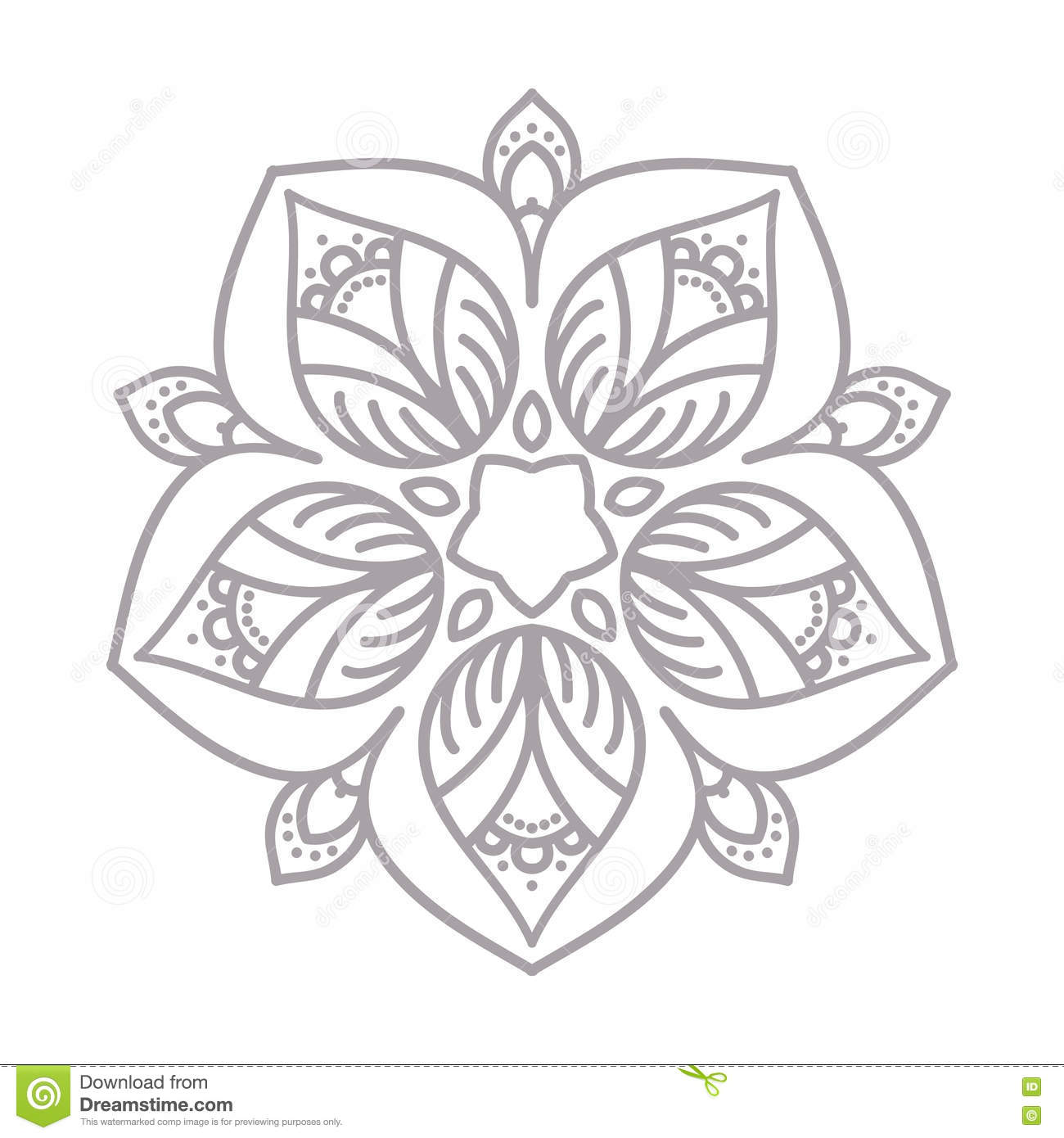 vector floral icon and design element in outline style