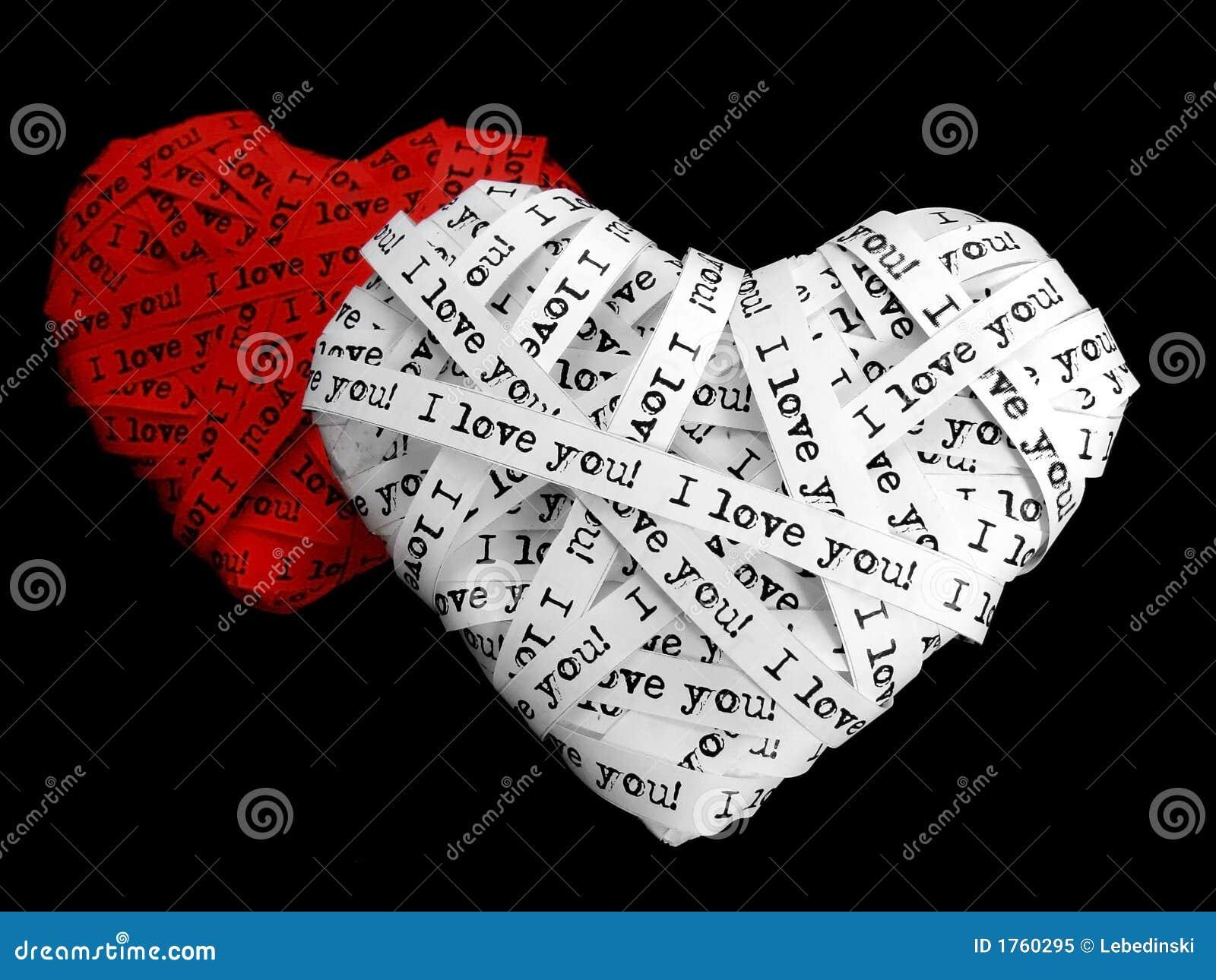 Decorative Love Hearts Stock Image Of Symbolic