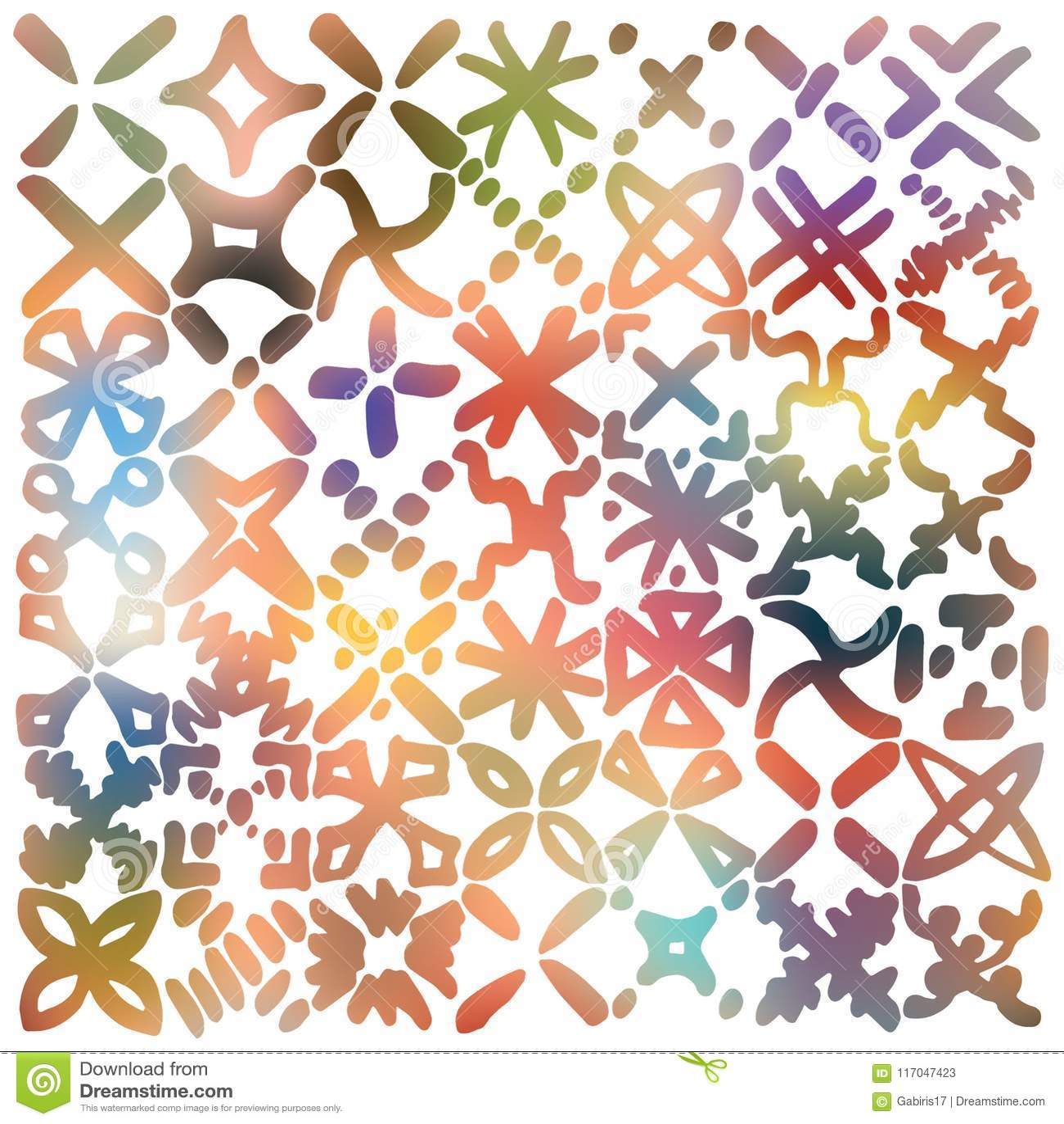 gradual shade filled x marks grid made up of hand drawn marker