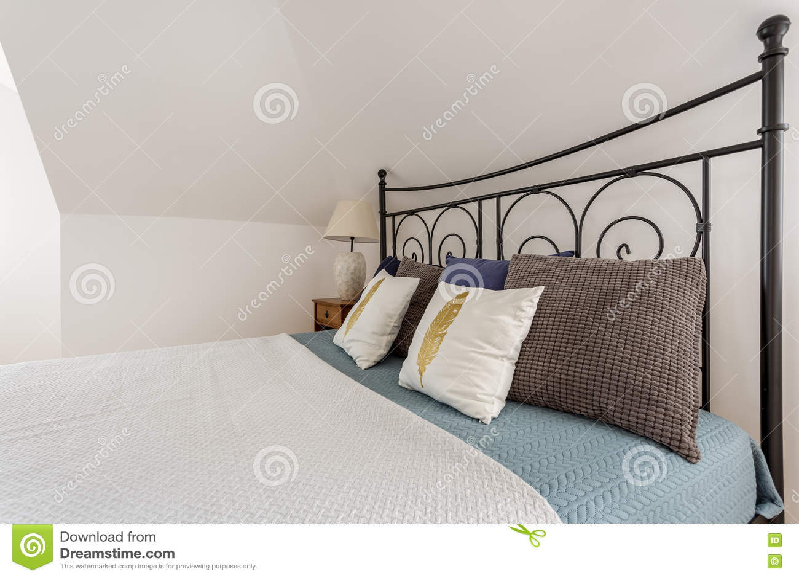 Decorative metal bed frame - Decorative Metal Bed Frame Idea Stock Photo