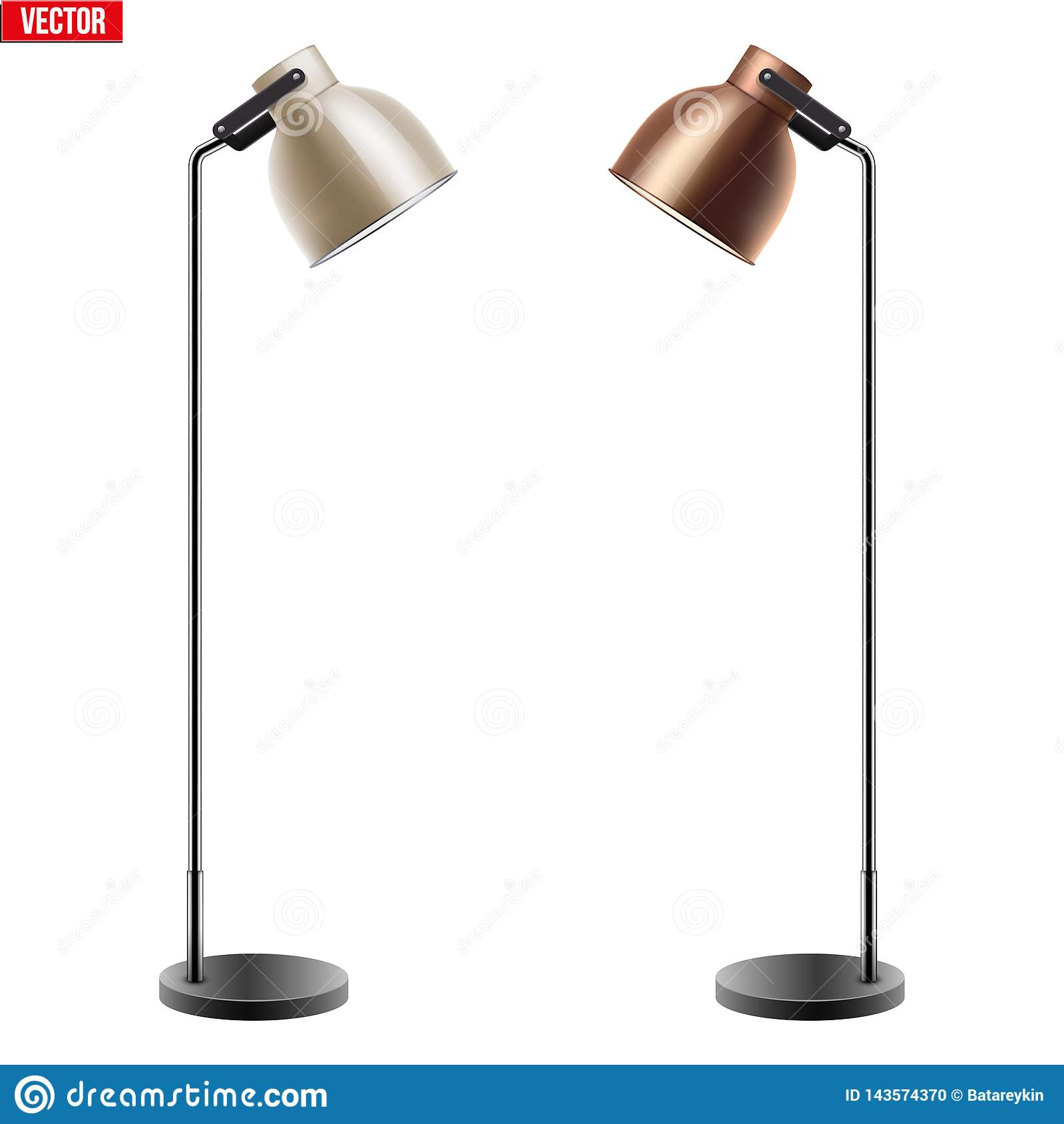 Decorative Metal Floor Lamp Stock Vector Illustration Of