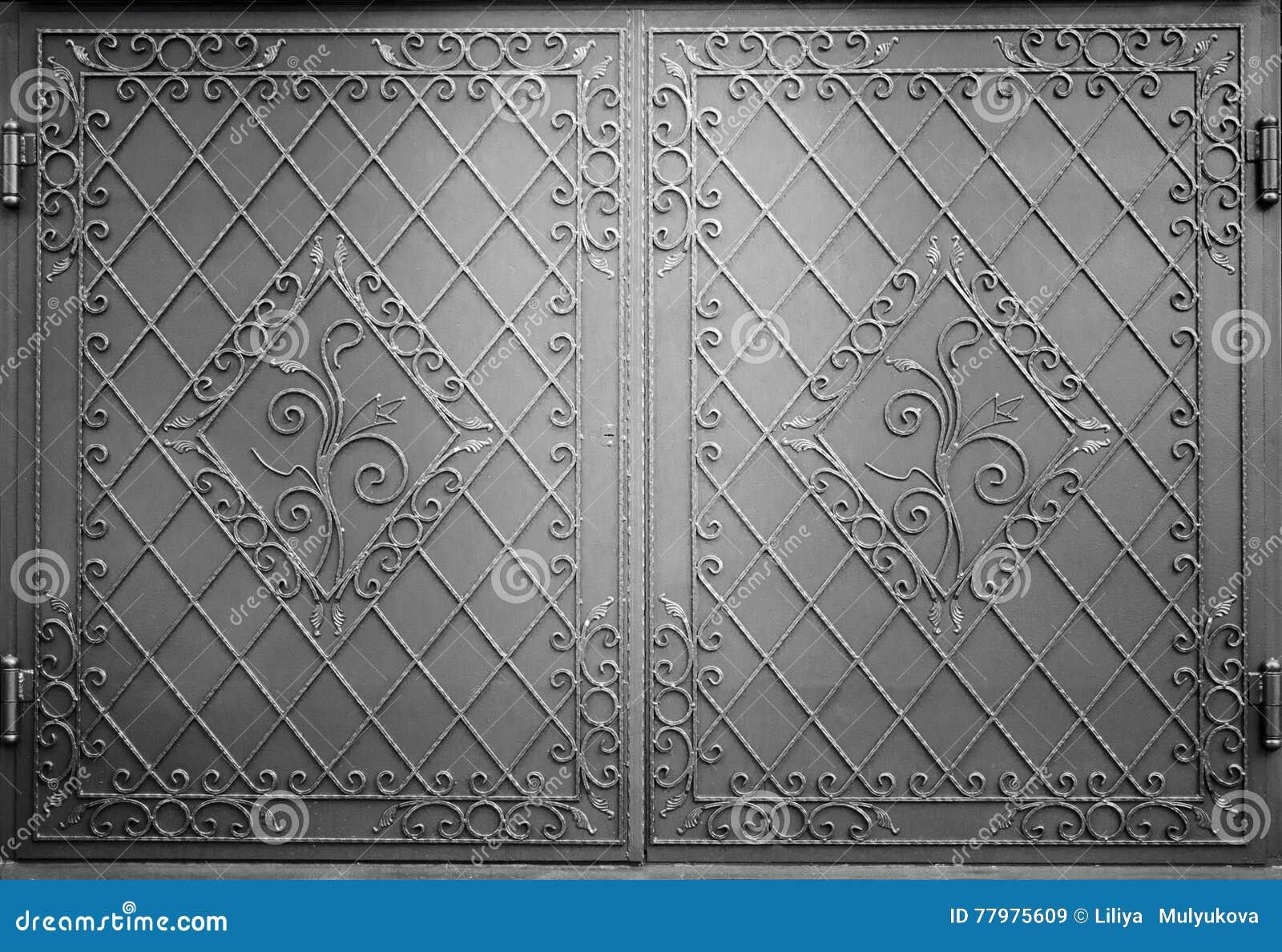 Decorative metal gate stock image  Image of heavy, design - 77975609