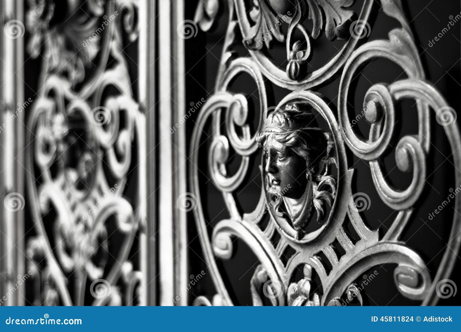 Decorative Metal Gate Photo Image 45811811 – Decorative Metal Garden Gates