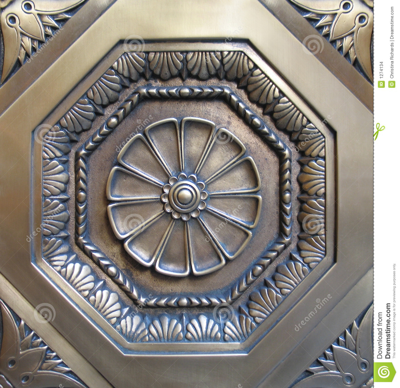 Decorative Metal Medallion Stock Photo Image Of Metal