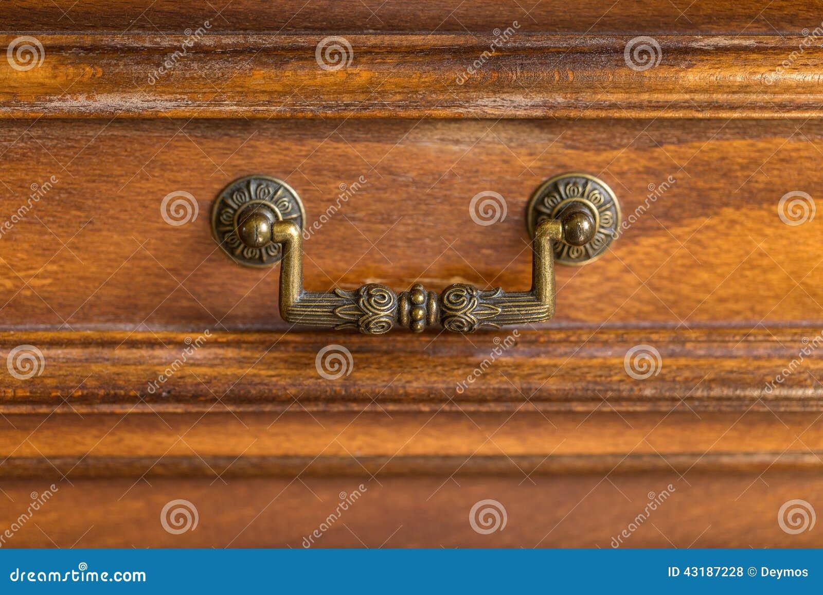 Decorative Metal Ornate Drawer Handle Stock Photo - Image of ...