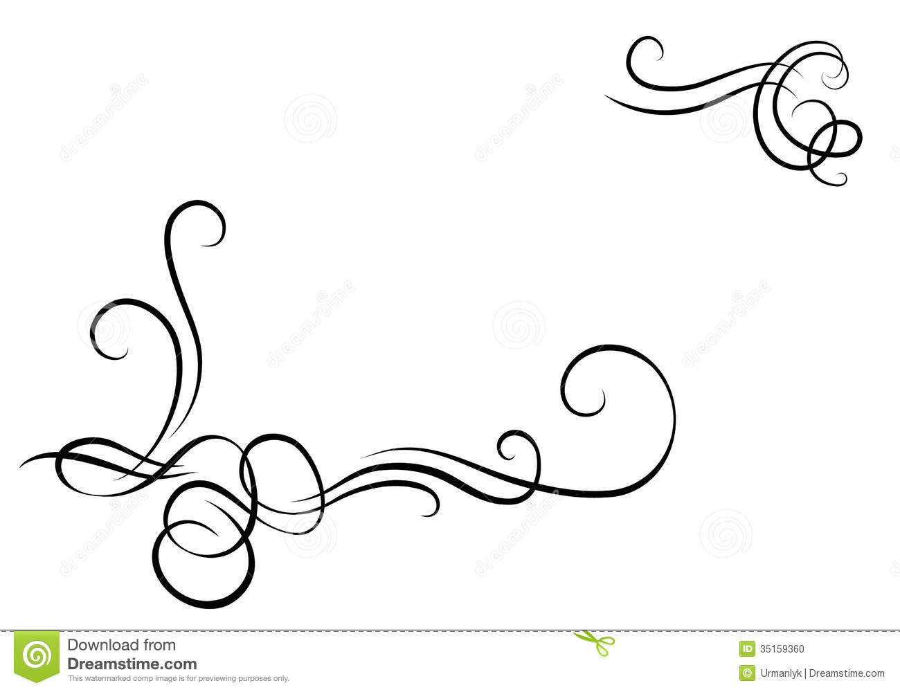 Http Www Dreamstime Com Stock Photo Decorative Monogram Corners Picture Image35159360