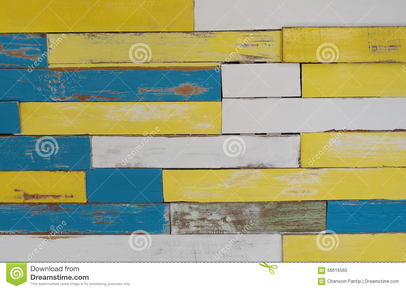 Decorative Multicolor Wood Wall Background Stock Image - Image of ...
