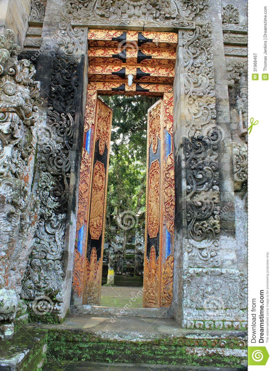 Royalty-Free Stock Photo & Decorative Open Doors Of Pura Kehen Temple In Bali Royalty Free ... Pezcame.Com