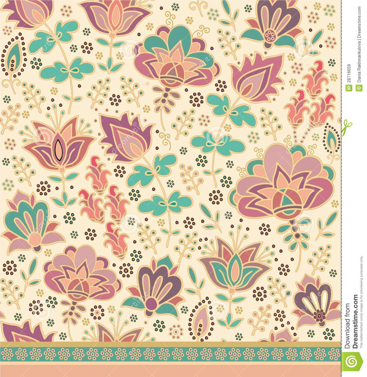 Orient floral decor royalty free stock images image 28716659