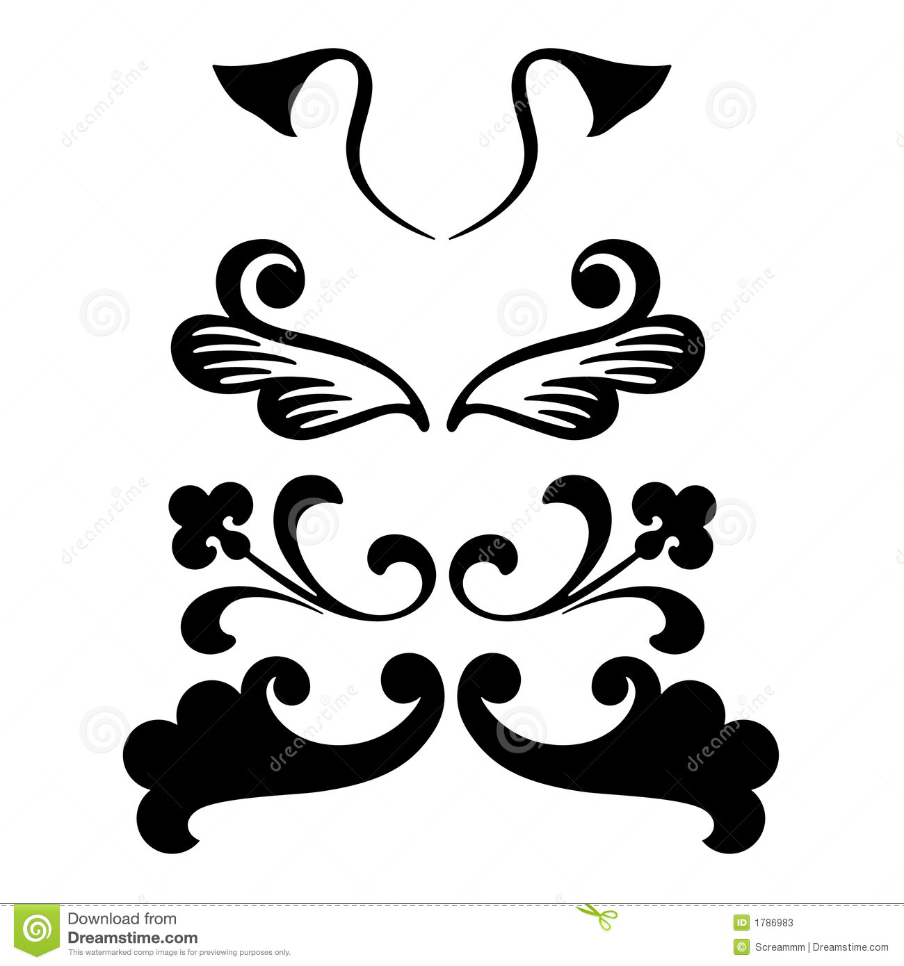 Decorative ornament shapes stock vector. Image of cool ...