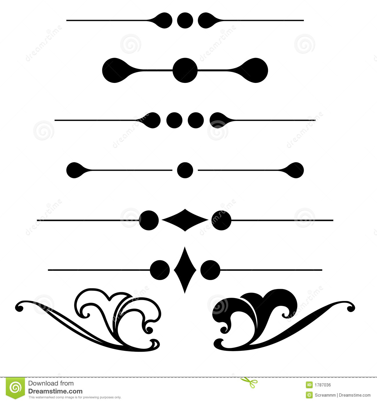 Decorative ornament shapes stock vector. Image of stylish ...