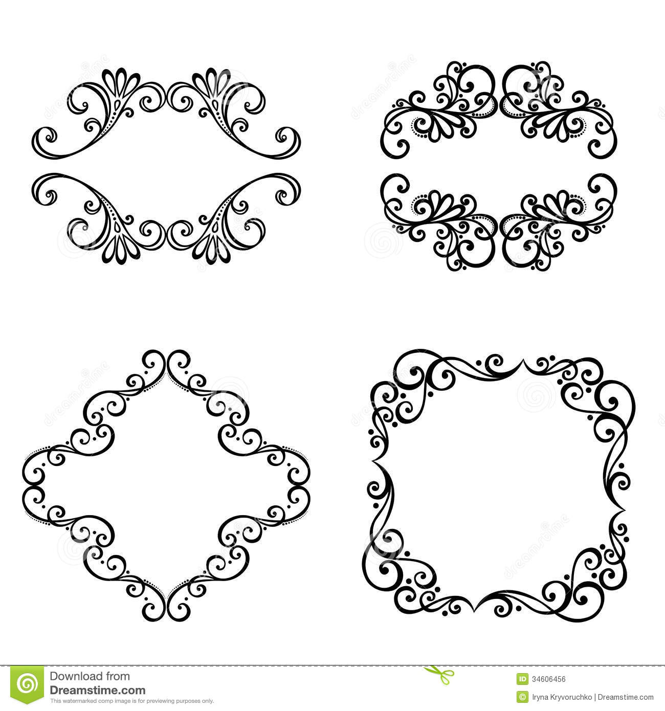 Decorative Ornamental Frame For Text. Royalty Free Stock ...