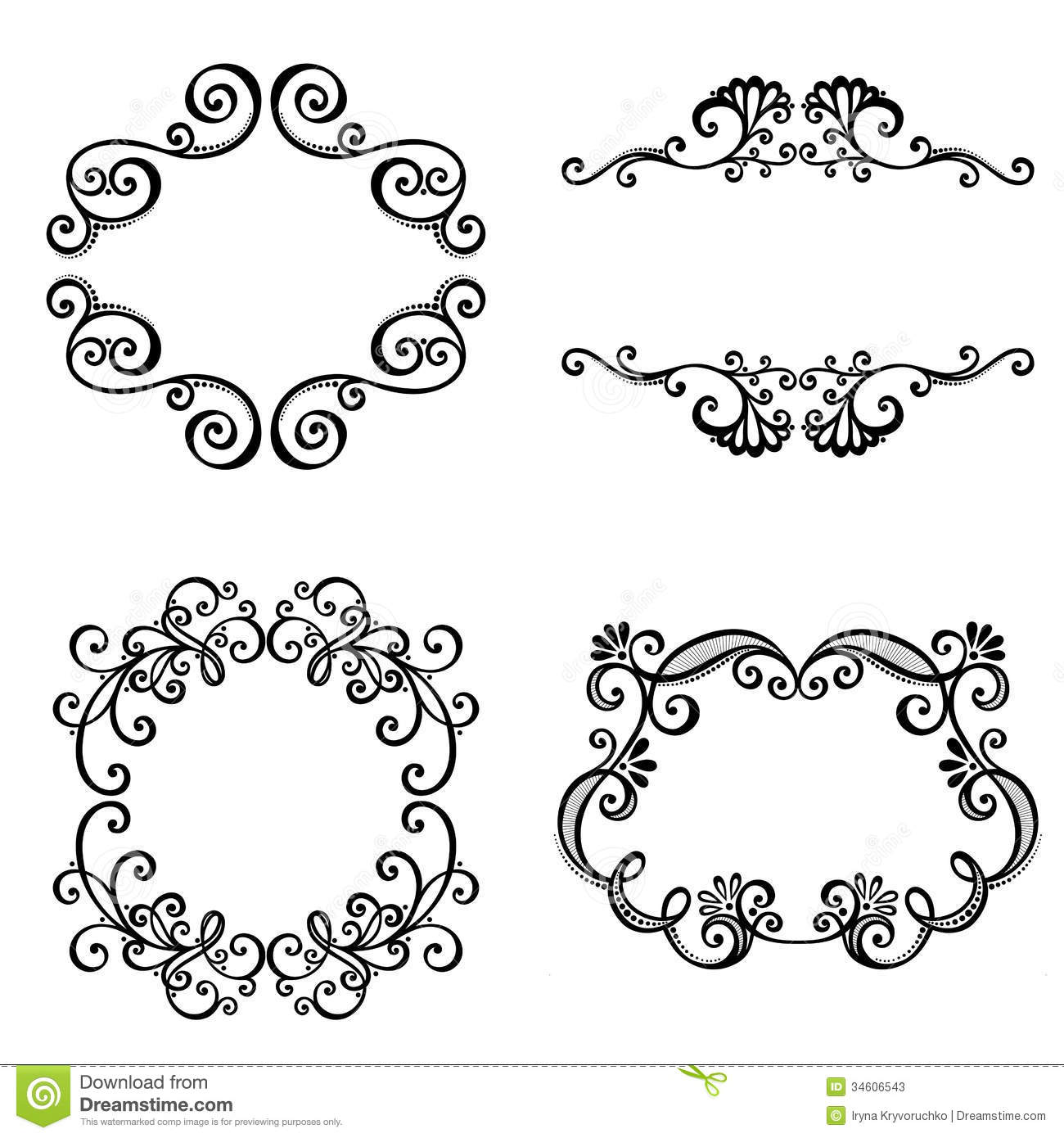 Decorative Ornamental Frame For Text. Stock Photos - Image: 34606543
