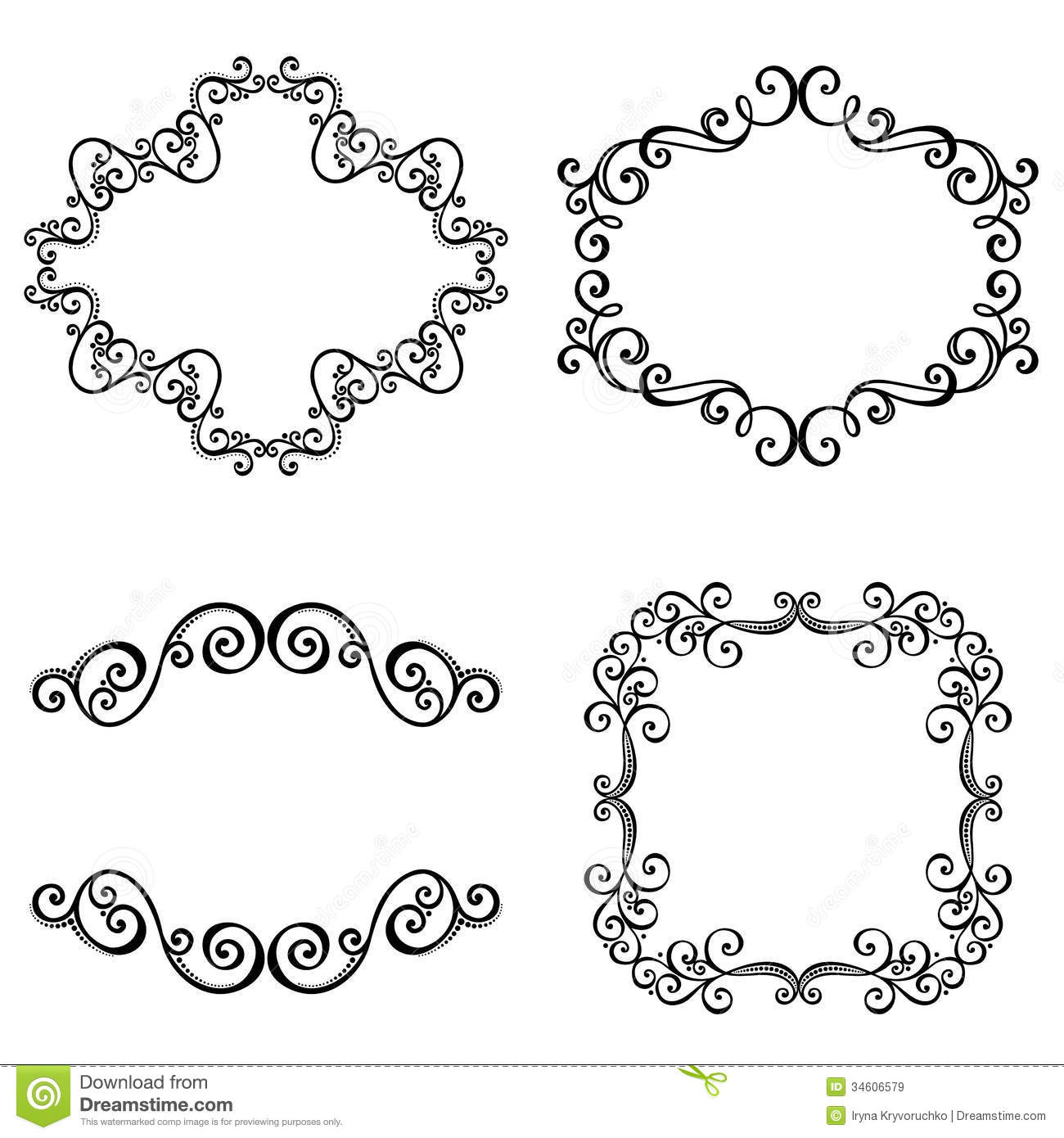 decorative ornamental frame for text royalty free stock images
