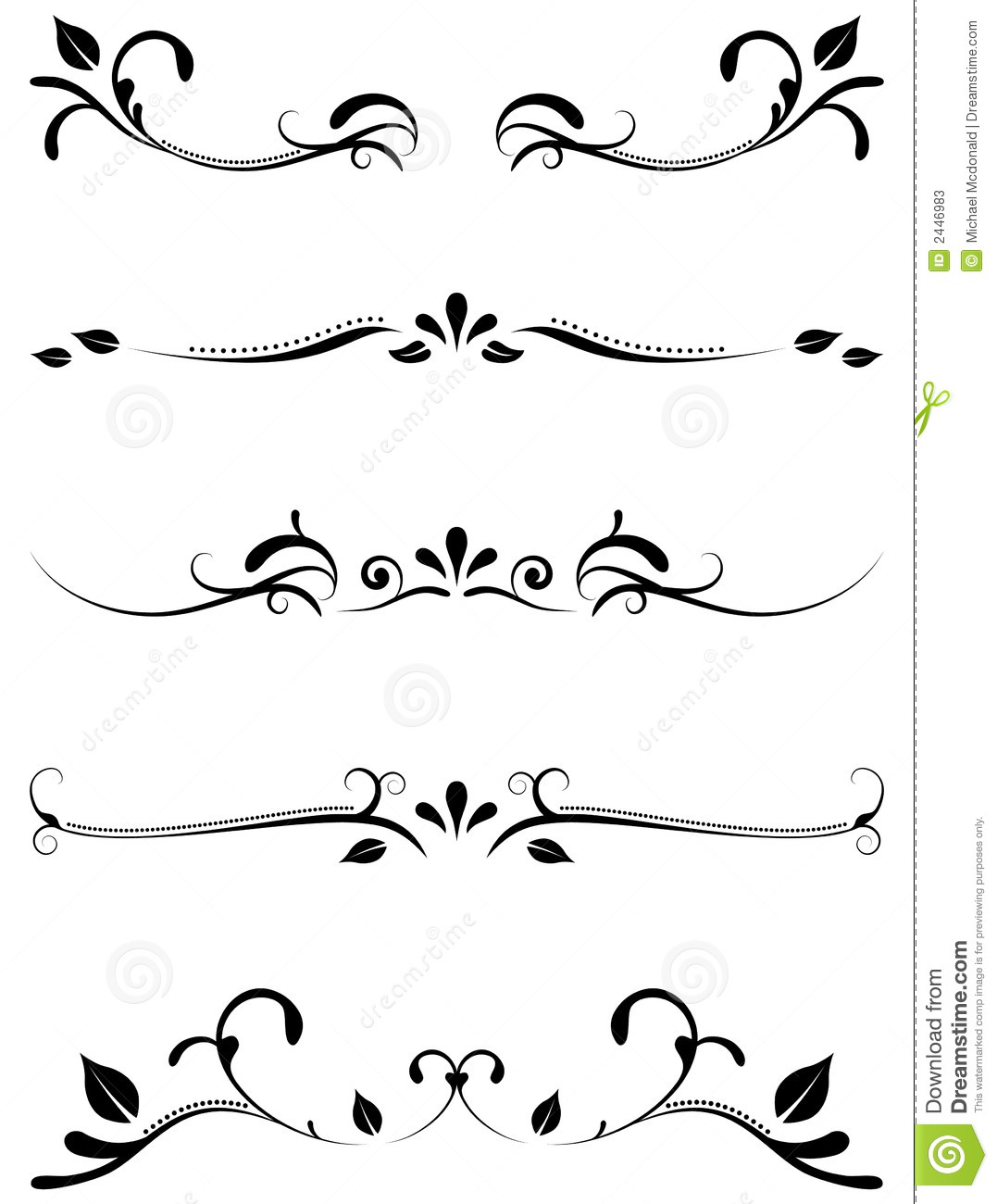 decorative ornamental rules stock photos  image  - ornamental page rules tattoo border tribal black decor decoration accent