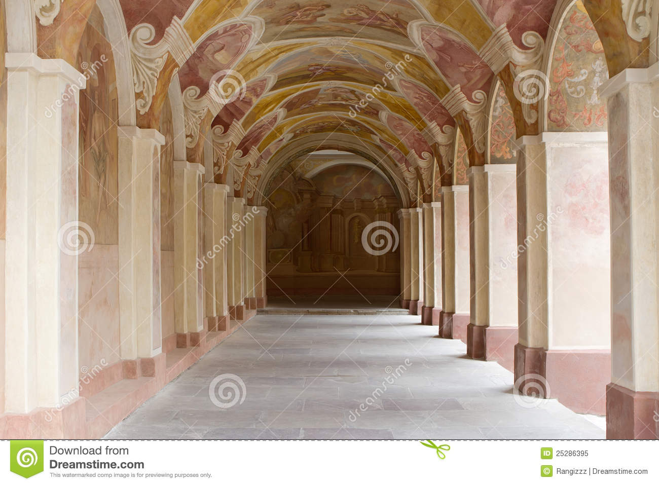 decorative ornate corridor royalty free stock photo image 25286395