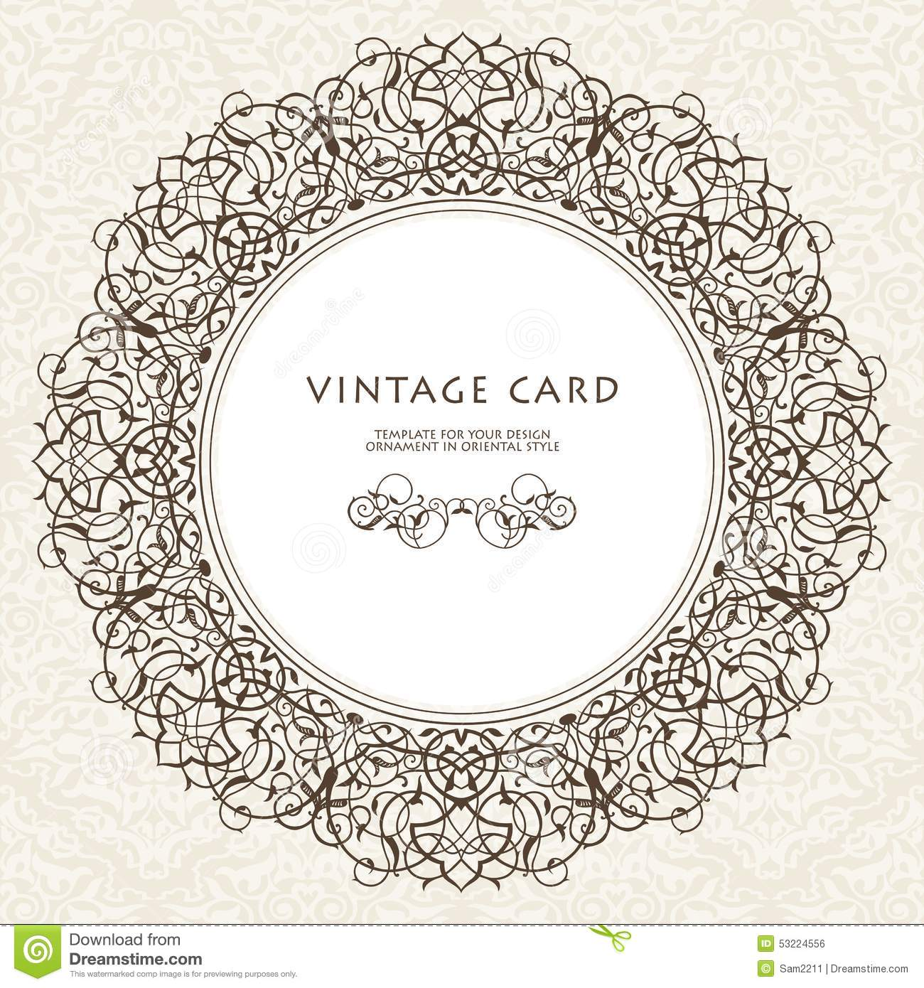 Decorative Ornate Frame In Victorian Style Stock Vector