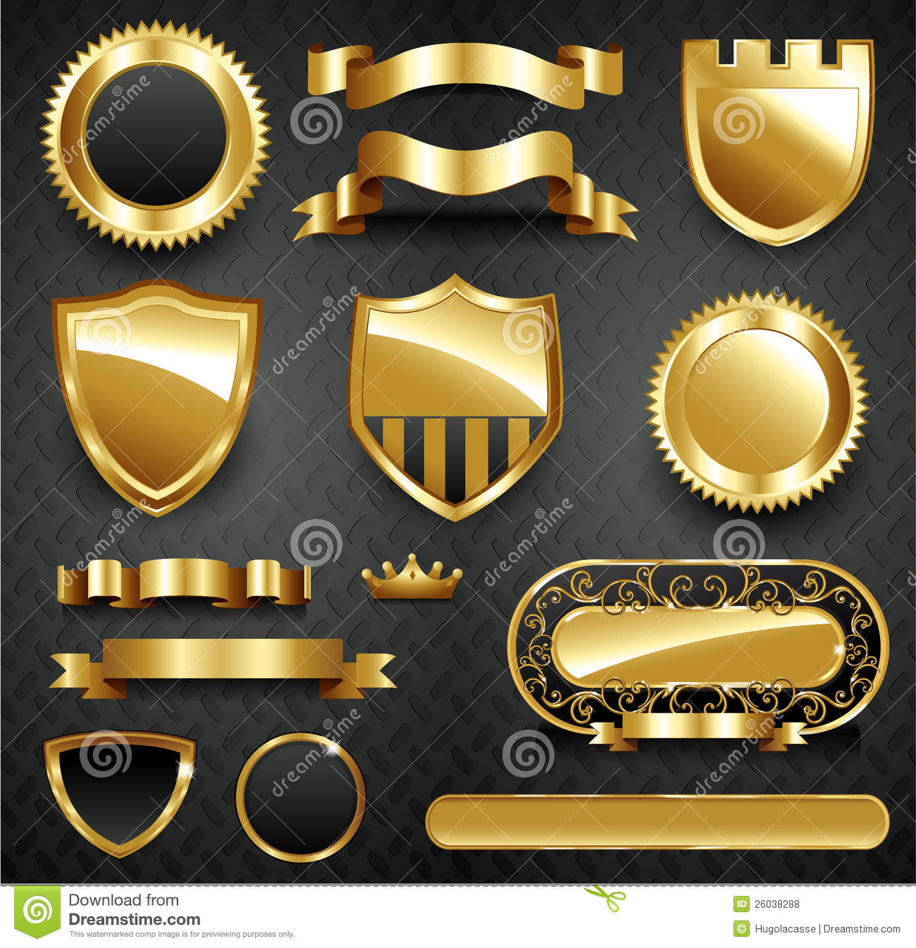 ... Gold Frame Collection Royalty Free Stock Photos - Image: 26038288: www.dreamstime.com/royalty-free-stock-photos-decorative-ornate-gold...