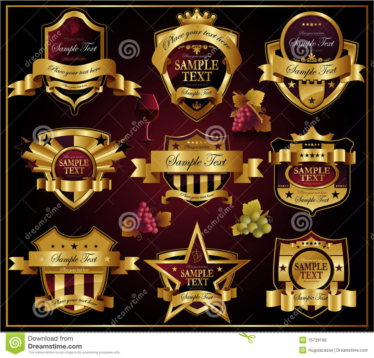 Shield design set royalty free stock photos image 5051988 - Royalty Free Stock Photo Decorative Design Illustration Ornate Shield