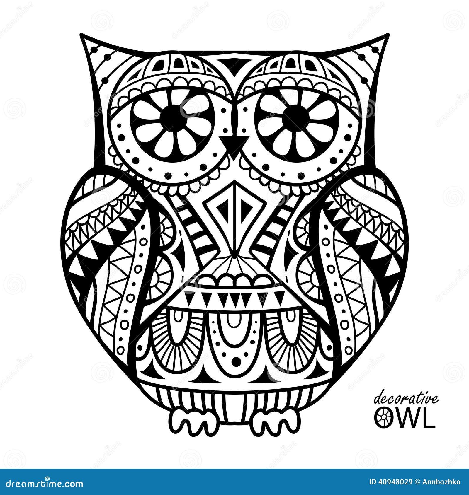 Decorative Owl Stock Vector  Image: 40948029