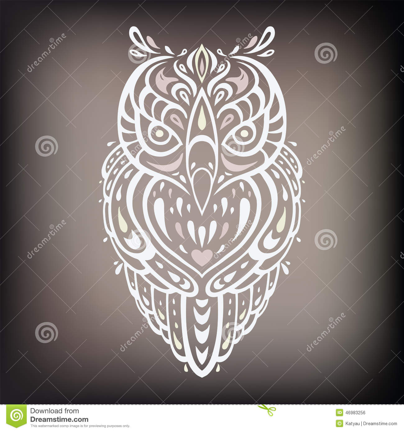 Decorative Owl Ethnic Pattern Stock Vector Image 46983256