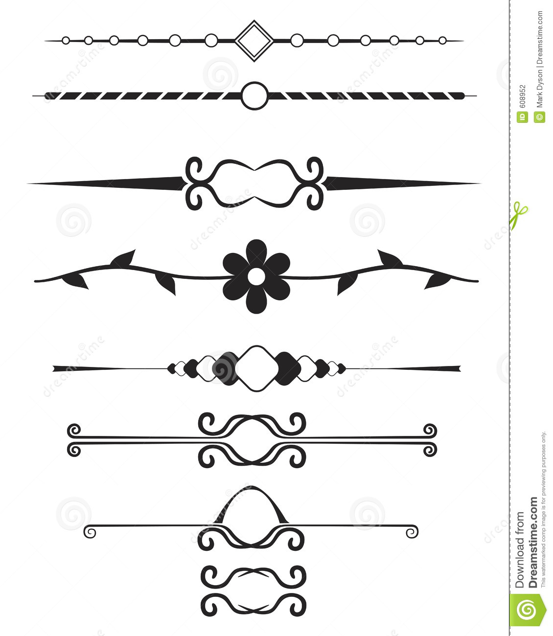 Decorative Page Elements Stock Photography - Image: 608952