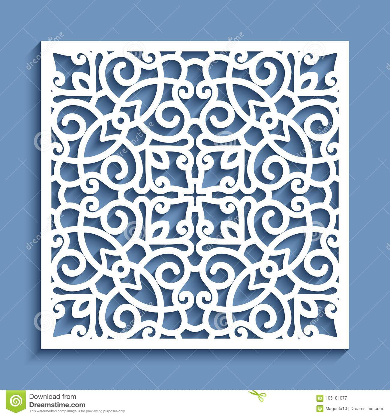 Download Cutout Paper Ornament, Lace Pattern Stock Vector   Illustration Of  Decorative, Frame: