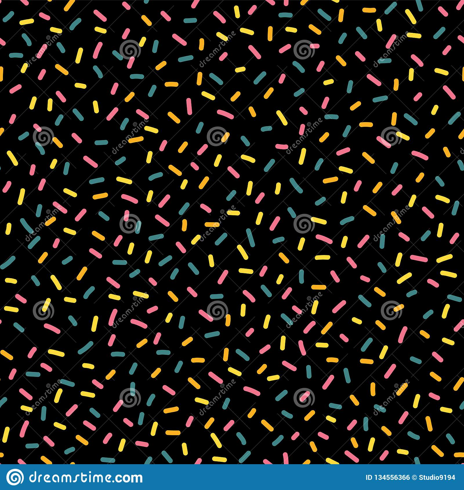 Decorative party sprinkles seamless repeat vector