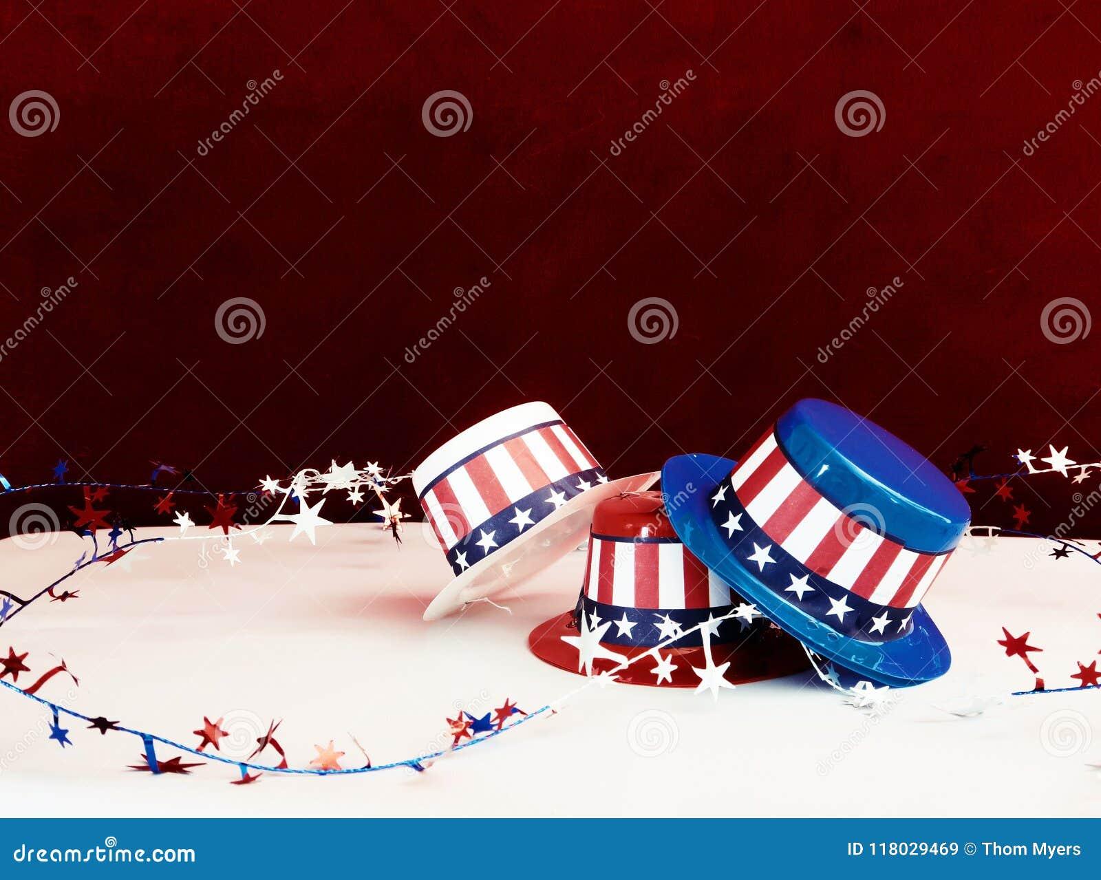 Decorative patriotic hats stock image  Image of decorative