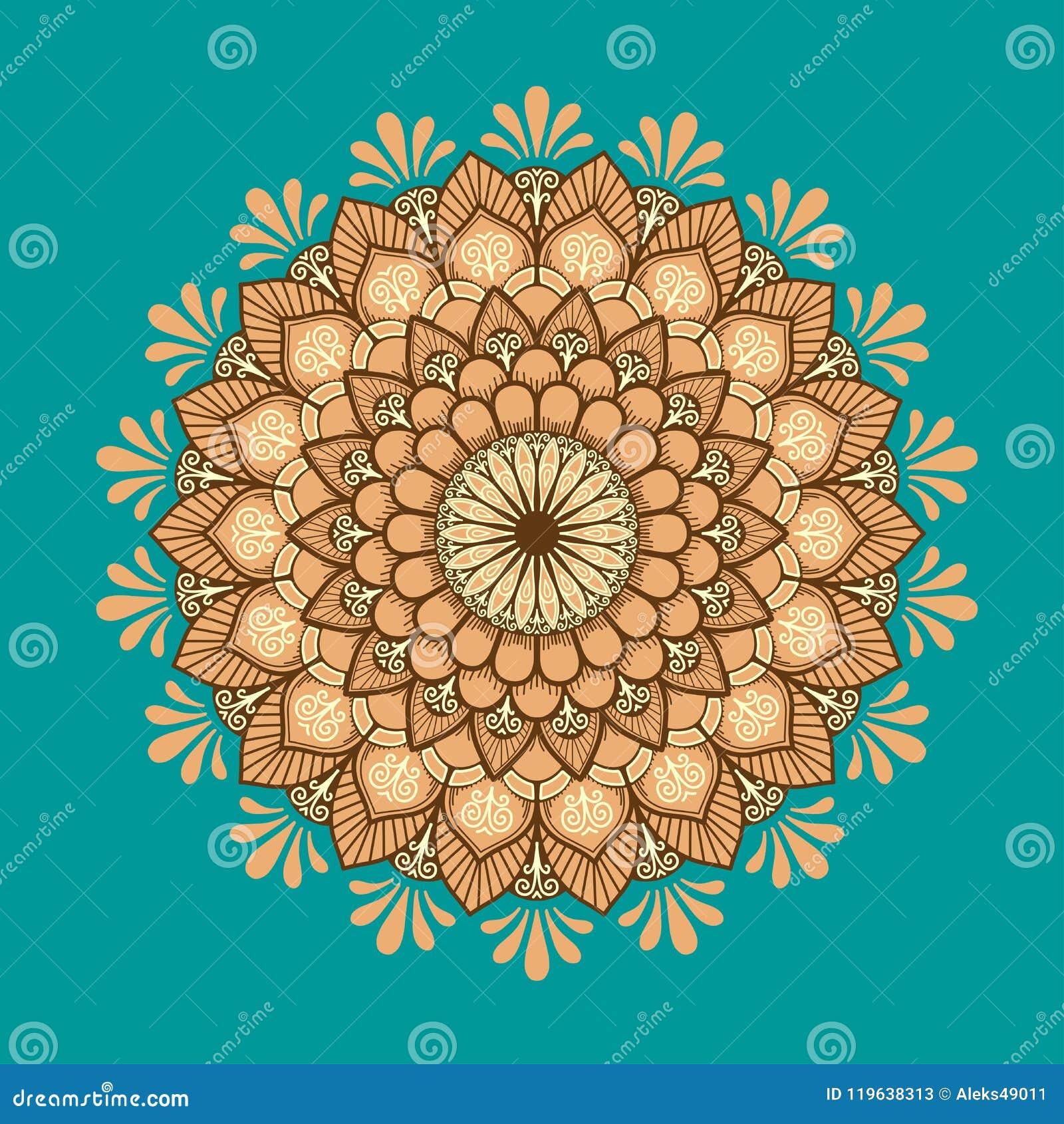 Mandala Pattern Retro Flower Multicolored Mandala Stock Vector
