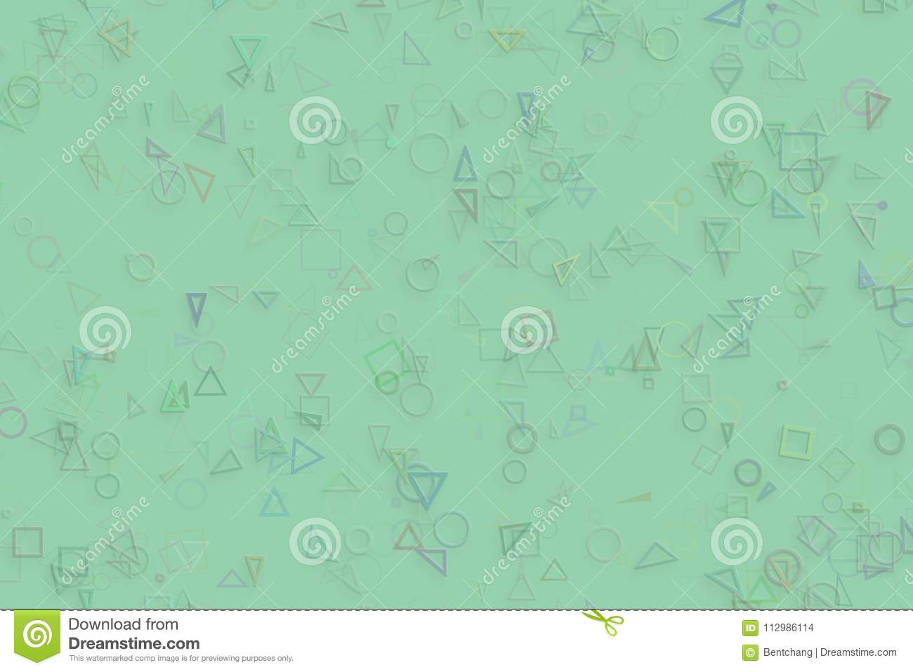 Decorative and pattern shape illustrations. Cover, drawing, color & square.