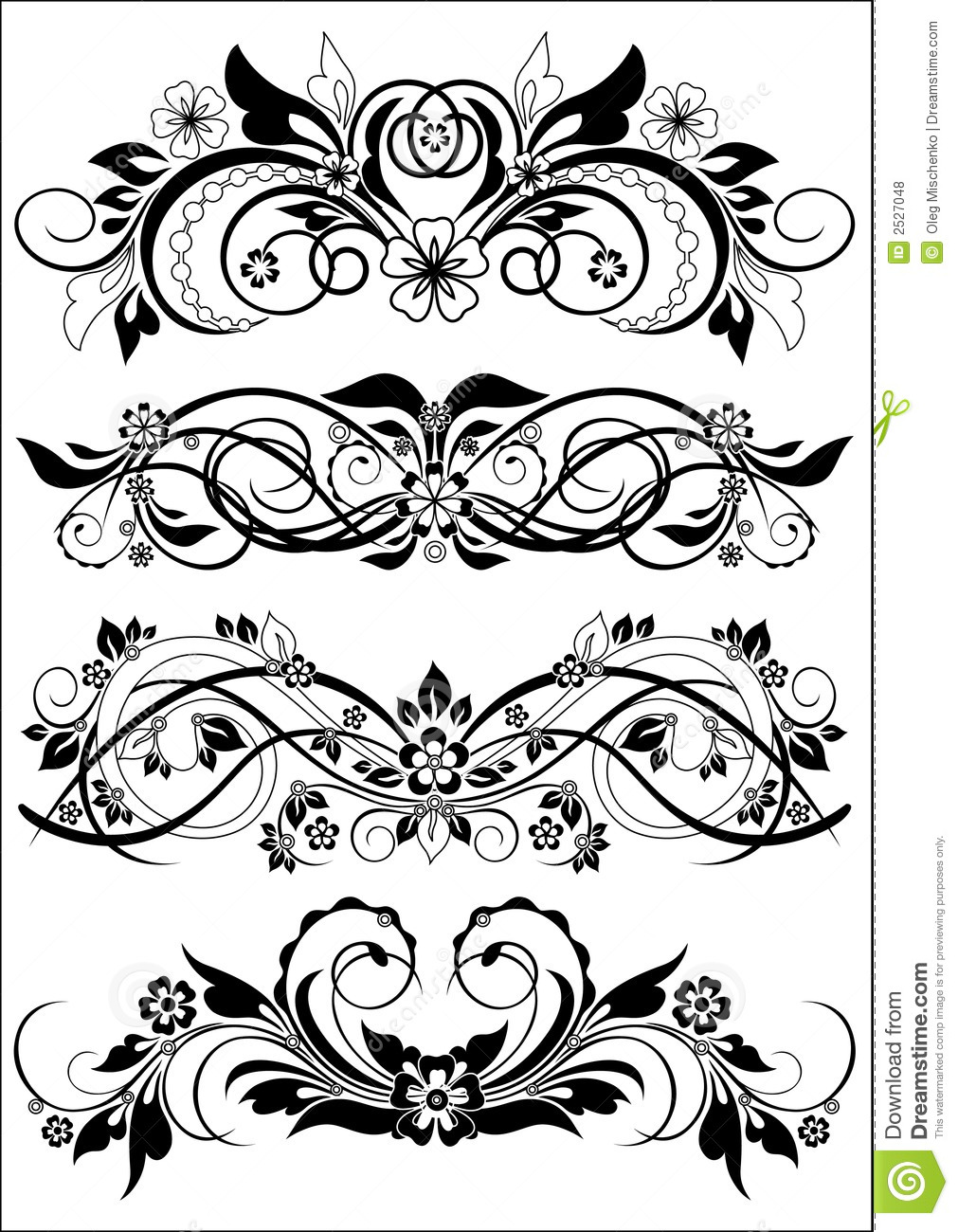 Flowers Decorative Letter R Balck And White Royalty Free: Decorative Patterns Stock Vector. Illustration Of Curl
