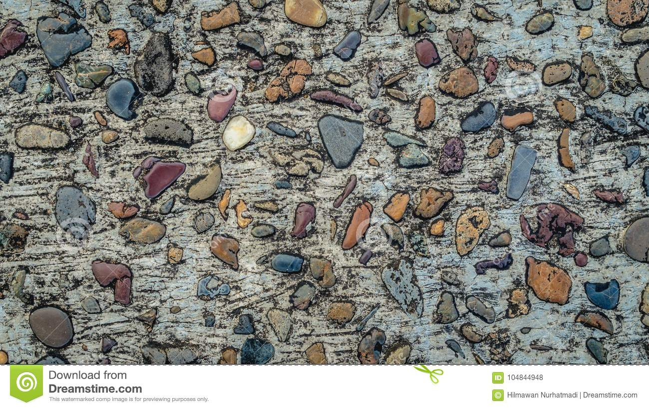 Download Gravel Stones Concrete Texture Colorful Background Stock Photo - Image of colorful, pavement: 104844948