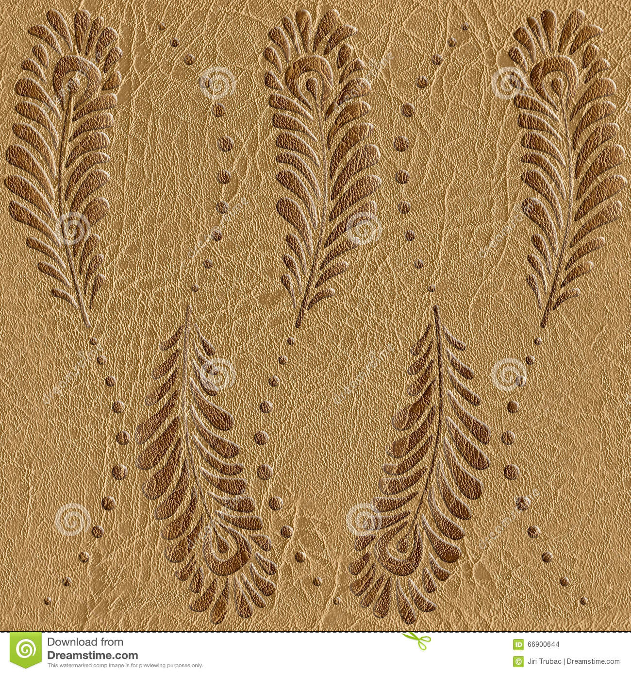 Decorative Peacock Feathers Leather Texture Seamless
