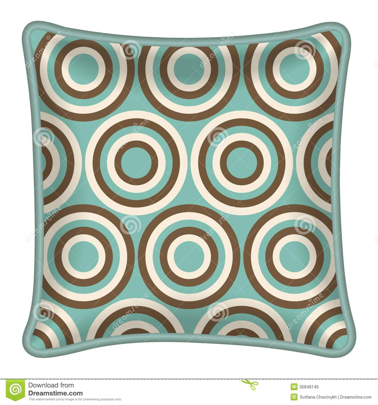 Interior design element decorative pillow with patterned pillowcase