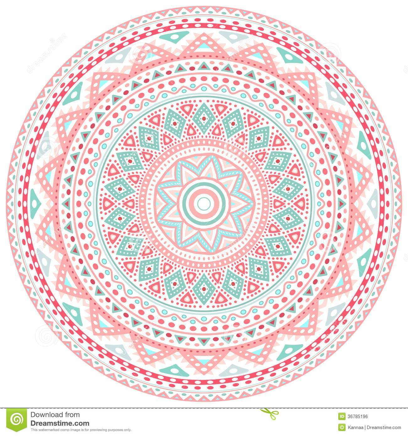 decorative pink and blue round pattern frame stock illustration illustration 36785196. Black Bedroom Furniture Sets. Home Design Ideas