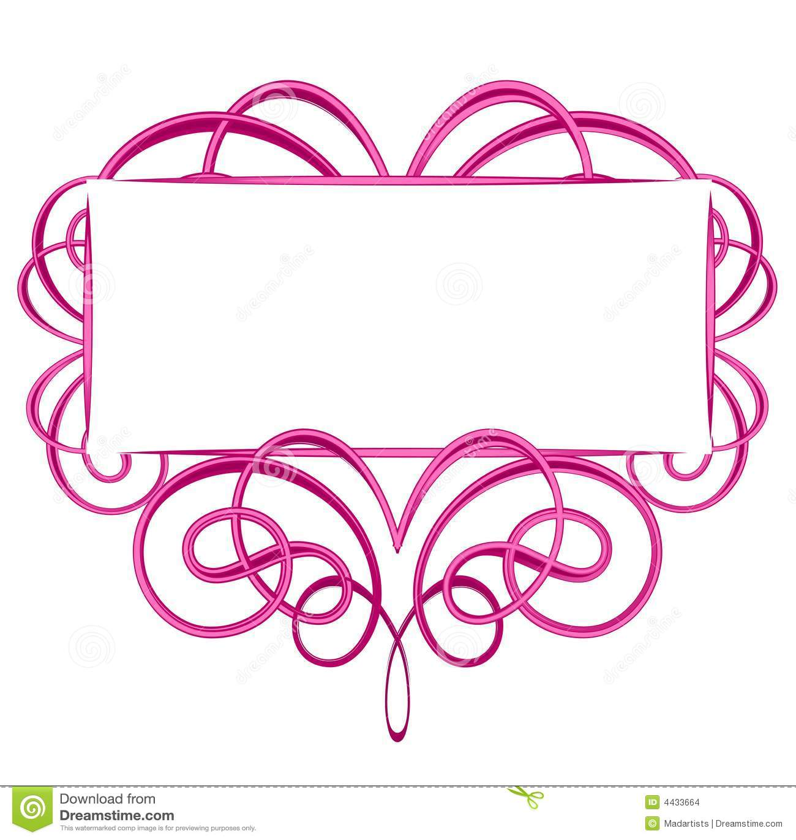 Feminine Logo Collections Template: Decorative Pink Flourish Logo Stock Images