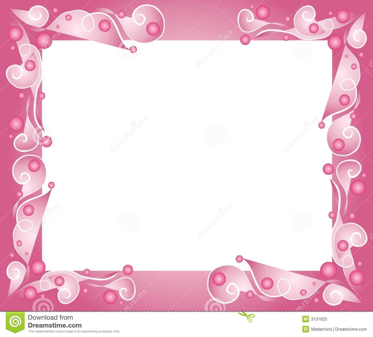 Decorative Pink Frame Border Stock Illustration